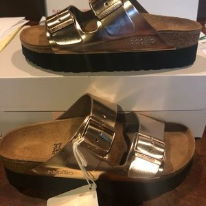 Papillio Arizona platform metallic copper 9 n new